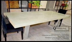 Mesa Comedor Silestone Marmol - Fabrica Quaystone - Sillas