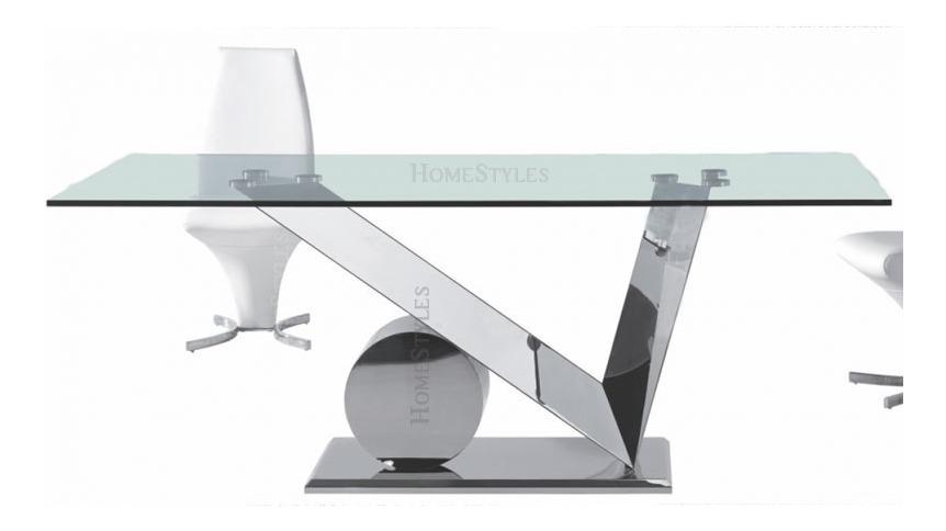 Mesa Comedor Tilde (200x100) Cristal 12mm Patas Acero Inox
