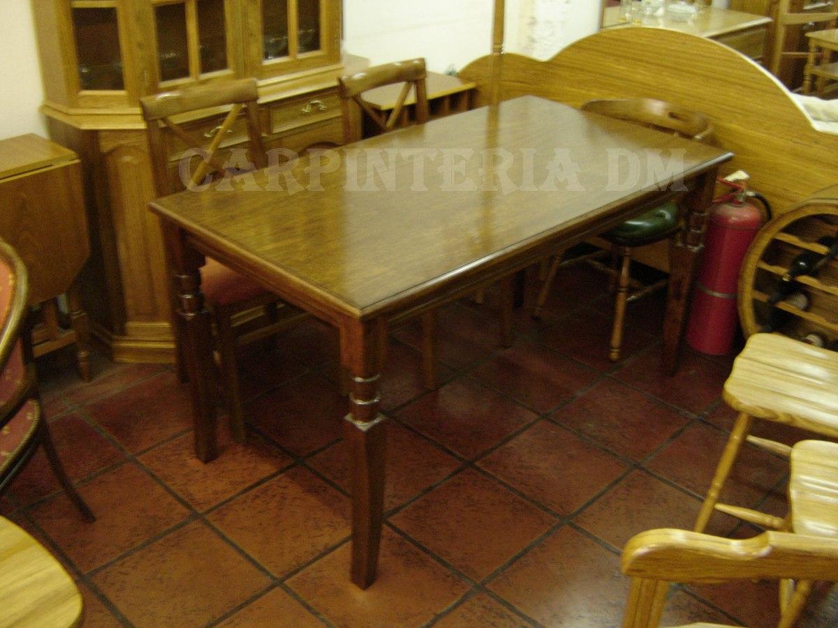 Mesa Comedor Torneada Roble / Carpinteria Dm - $ 12.540,00 en ...
