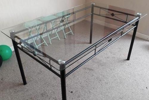 mesa comedor vidrio