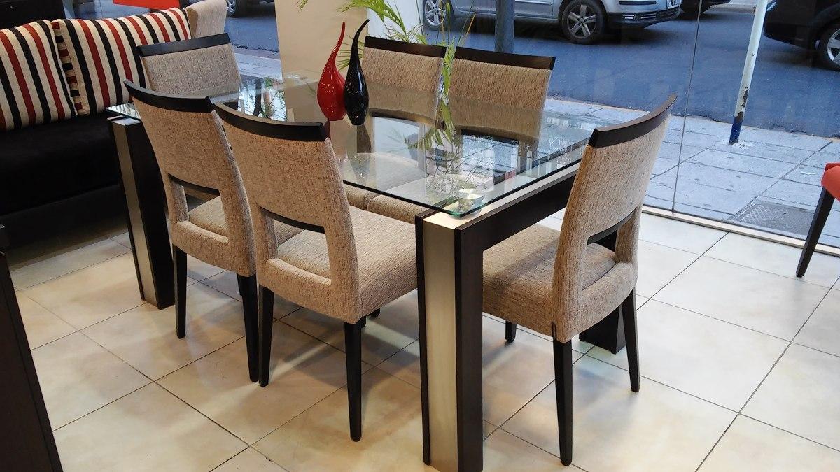 Mesa Comedor Vidrio Acero Laca Blanca 1.60m Studio Mobel - $ 11.200 ...