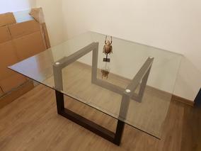 Mesa Cuadrada Madera Con Vidrio - Hogar y Muebles en Mercado Libre Chile