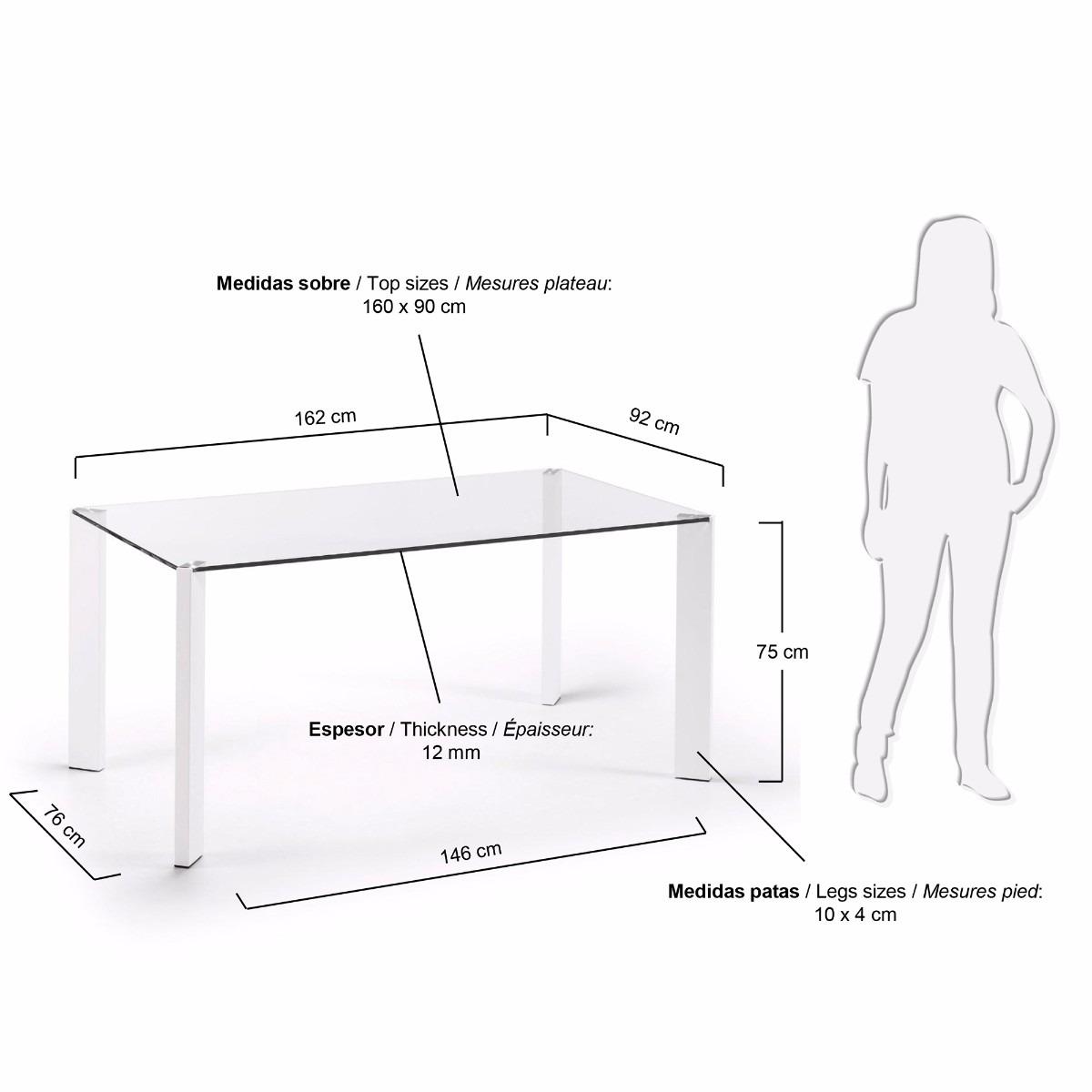 Medidas mesa comedor 4 personas cheap mesa para personas medidas good artengo with mesa para - Medidas de mesa de comedor ...