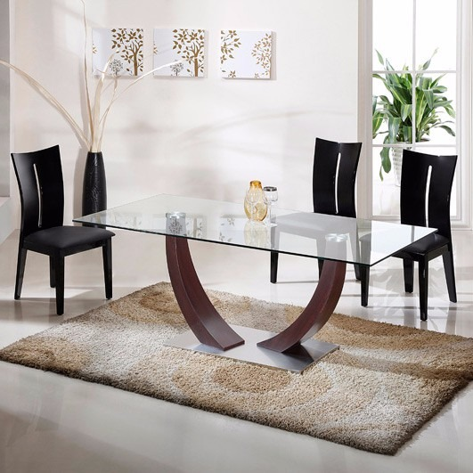 Mesa Comedor Vidrio Tapizada Moderna Premium 12 S/interes - $ 14.375 ...