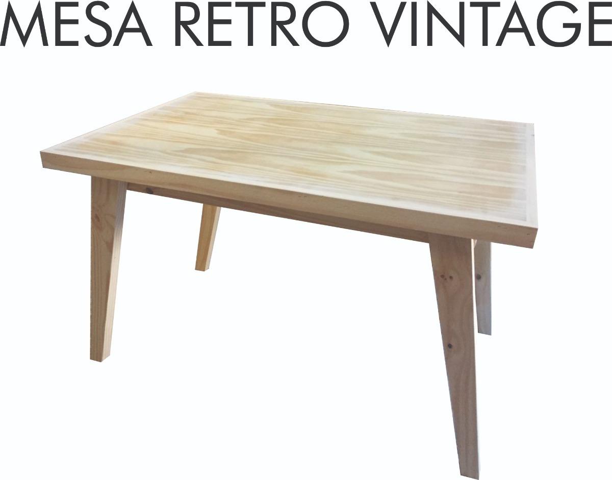 Mesa Comedor Vintage Escandinava Madera Pino 1.40x80cm - $ 2.399,00 ...