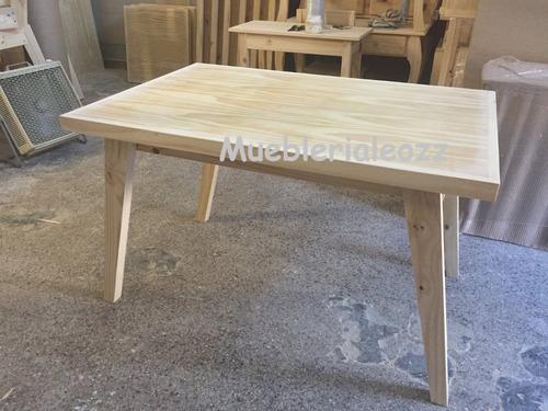 mesa comedor vintage escandinava madera pino 1.40x80x80
