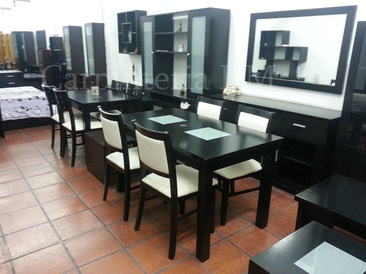 Mesa Comedor Wengue 130x80 / Carpinteria Dm - $ 8.740,00 en Mercado ...