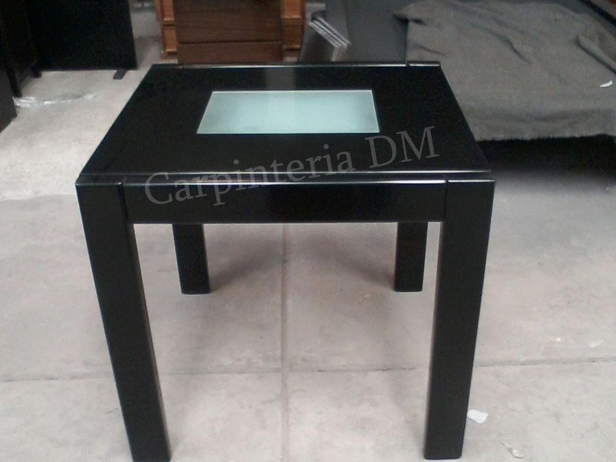 Mesa Comedor Wengue Con Vidrios 80 X 85 Extensible A 160cm - $ 8.990 ...