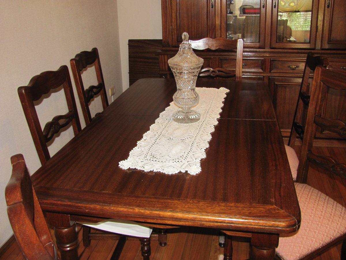 mesa comedor y sillas juego roble calidad tapizado nuevo