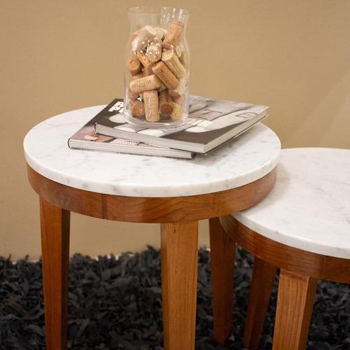 mesa complementaria en mármol de carrara