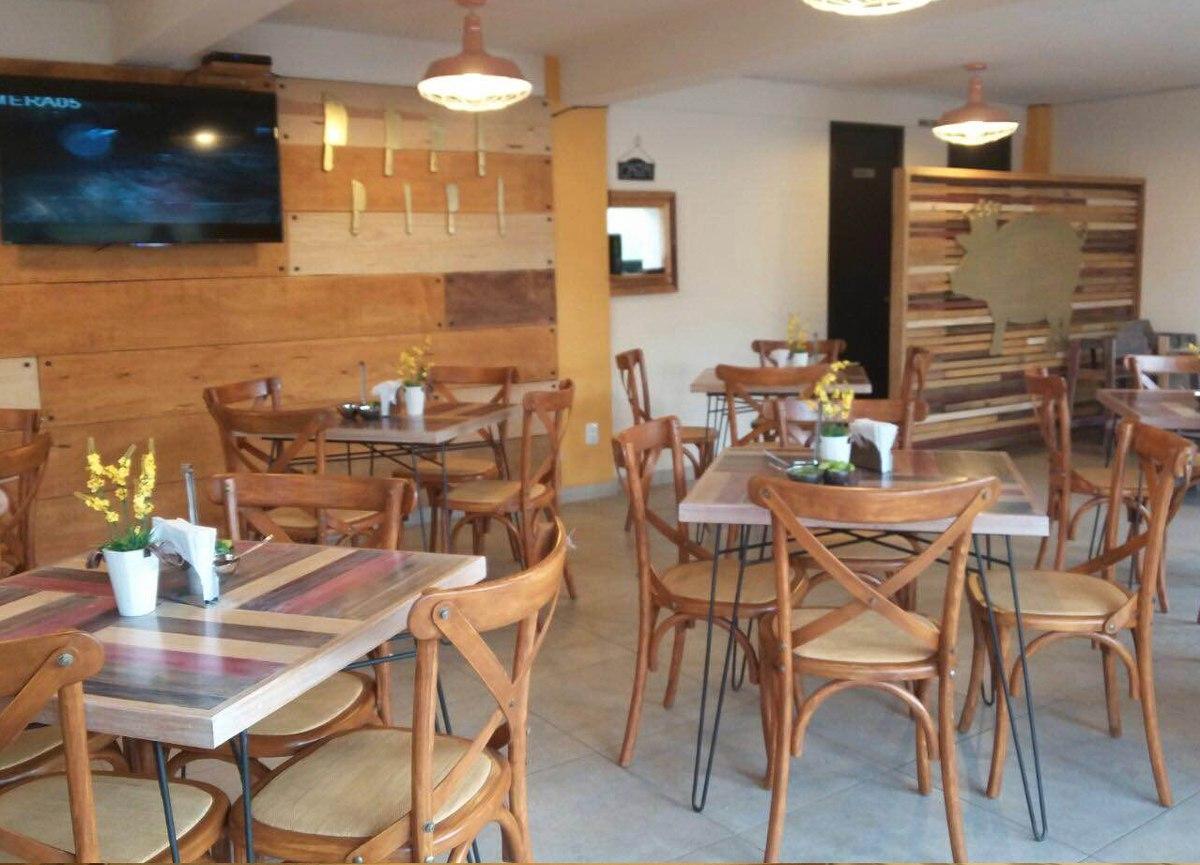 Mesa con 4 sillas madera restaurantes cafeterias bares for Sillas para bares y confiterias