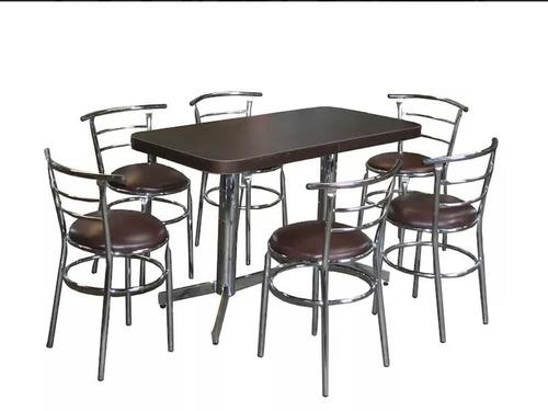 mesa con 6 sillas para restaurante bar antro cocina. baratos