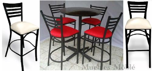 Mesa Con Bancos Comedor Para Restaurante Cafetería Bar Antro