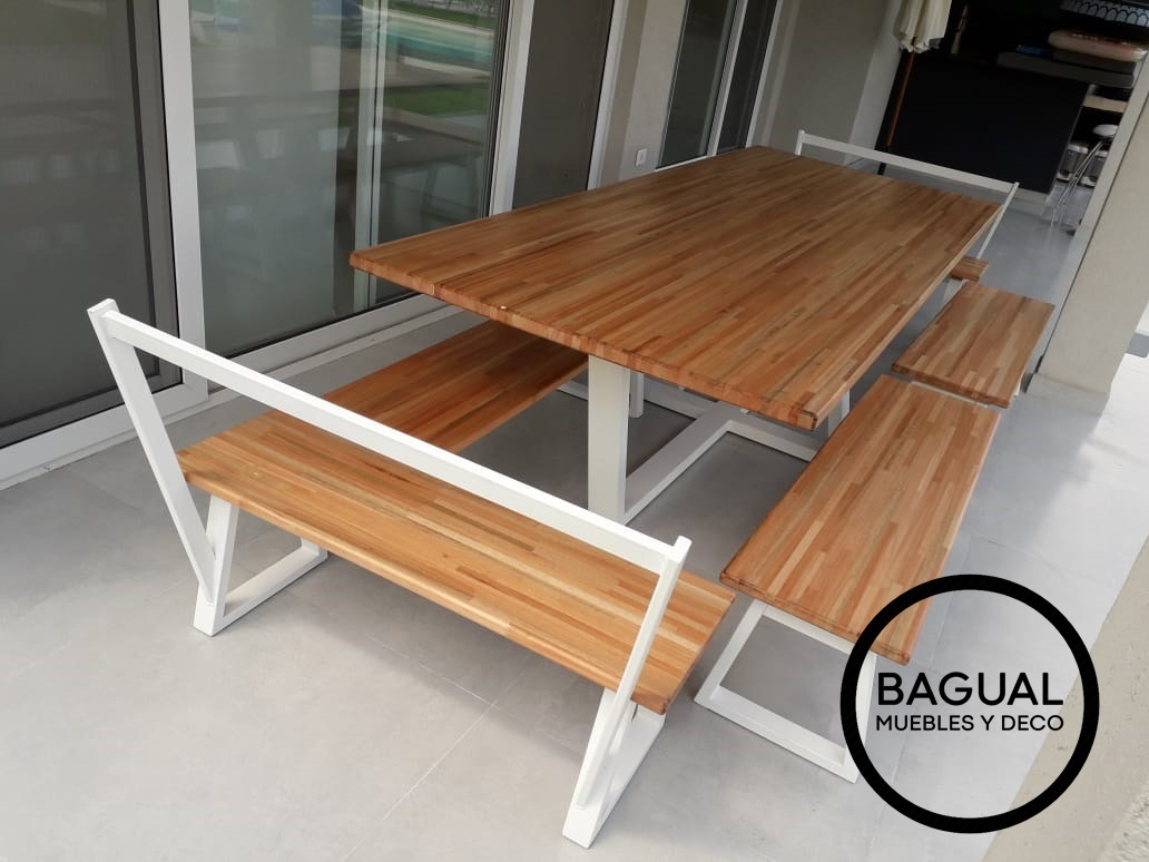 Mesa Con Bancos Para Comedor / Galería / Quincho - Bagual - $ 54.990 ...