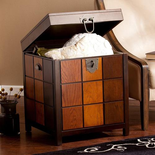 mesa con baúl integrado hendrick trunk importada