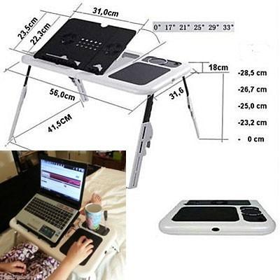 mesa con cooler para laptop super portatil y efectiva-