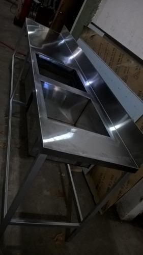 mesa con doble bacha
