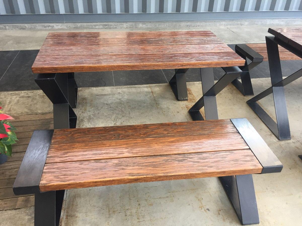 Mesa con patas de hierro forjado 4 en mercado libre for Patas de hierro para mesas