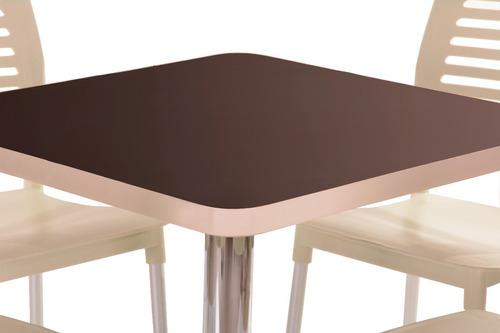mesa con sillas para restaurante bar cafetería cocina ec75pg