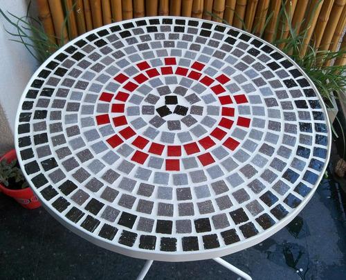 mesa con venecitas para balcon o jardin