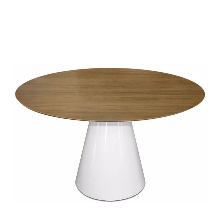 fc3e9420c0b mesa cone jantar redonda 100cm 1m em madeira freijó 4 lug. Carregando zoom.