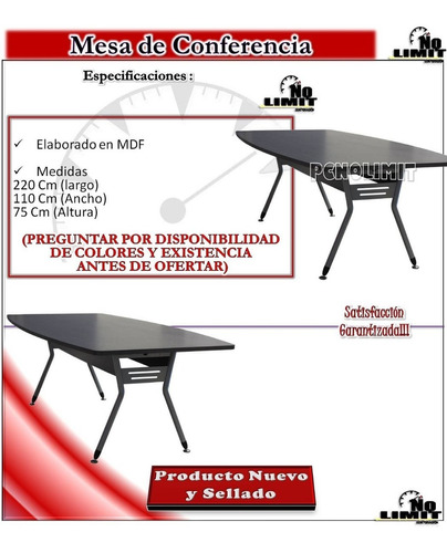 mesa conferencia lazio reunión oficina mobiliario pcnolimit