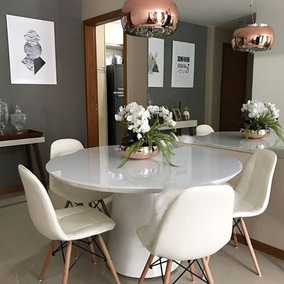 908c852ba Mesa Redonda Branca 6 Cadeiras no Mercado Livre Brasil