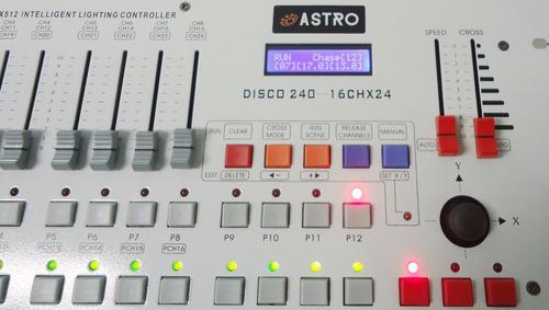 mesa controladora dmx sm007k disco 240 canais (astro)