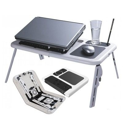 mesa cooler para laptop plegable !! super portatil