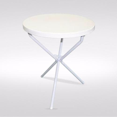 mesa copetín de caño con tapa plástica de 60cm