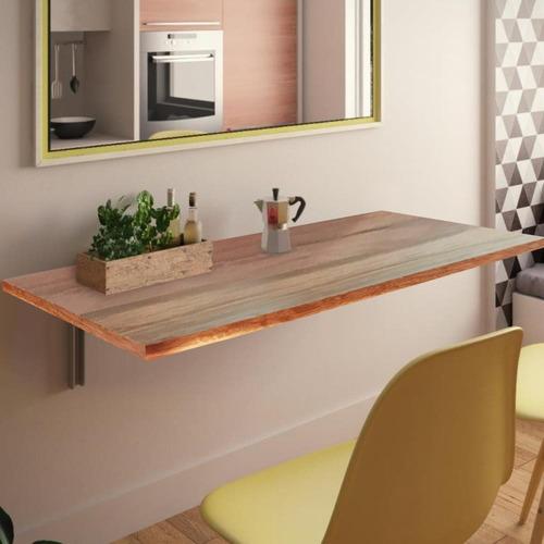 mesa cozinha quarto dobrável de parede em madeira 50x30x2