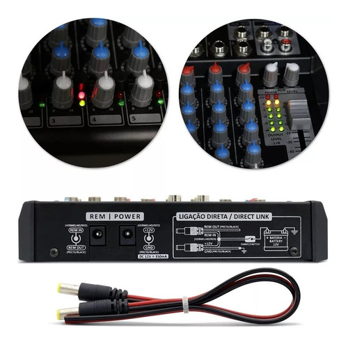 mesa crossover stetsom stm1206 stereo 12v 6 canais 2 vias