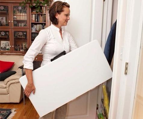 mesa cuadrada lifetime tipo portafolio,se dobla por la mitad