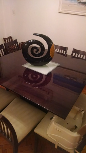 mesa cuadrada madera guatambu laqueada 1.30 x 1.30