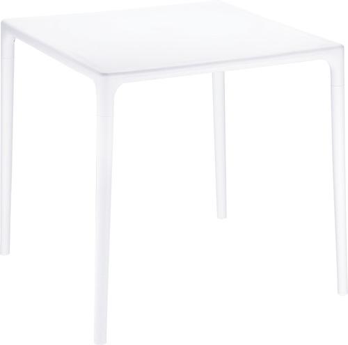 Mesa cuadrada plastico blanca restaurantes plazas de for Mesa cuadrada blanca