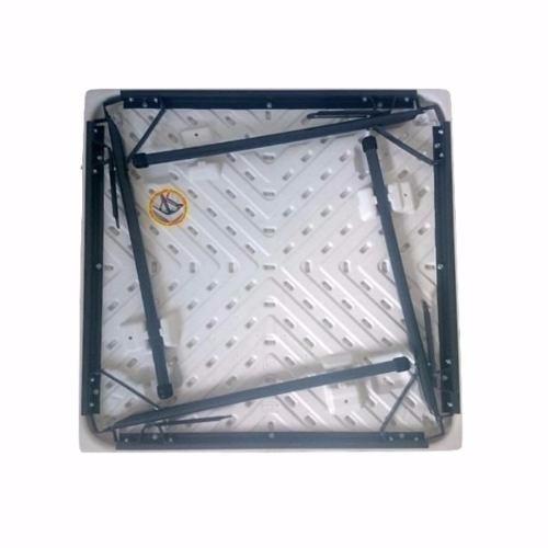 mesa- cuadrada plegable 85x85 cms blanca envio gratis