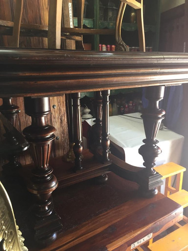 mesa cuadrada renacimiento 105x105