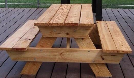 Mesa d madera picnic para exterior mesas y bancas - Mesas para exterior ...