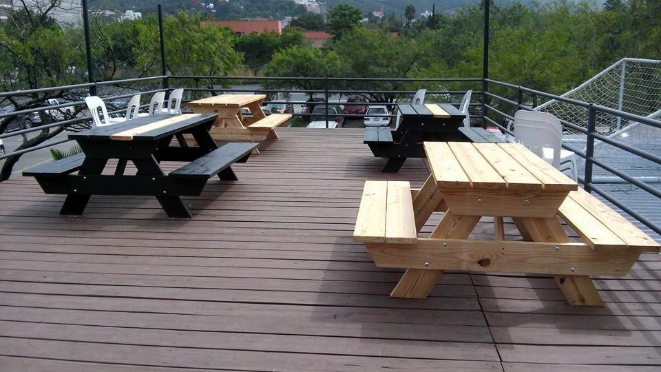 Mesa d madera picnic para exterior mesas y bancas - Tipo de madera para exterior ...