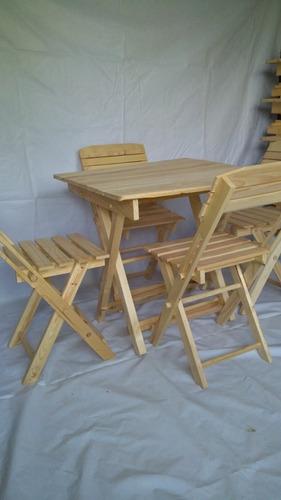 mesa de 80cm x 80cm y 4 sillas vitange