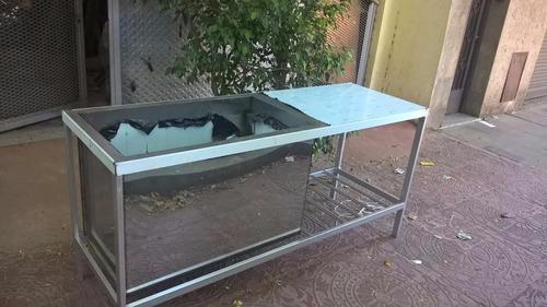 mesa de acero inoxidable bacha profunda de 60 cm