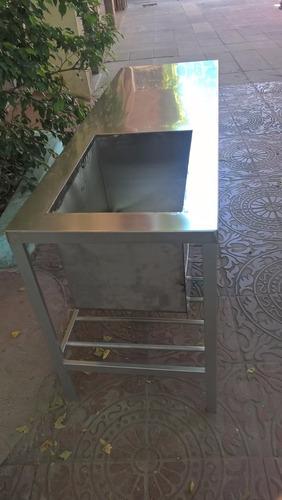 mesa de acero   inoxidable con bacha directo de fabrica!!