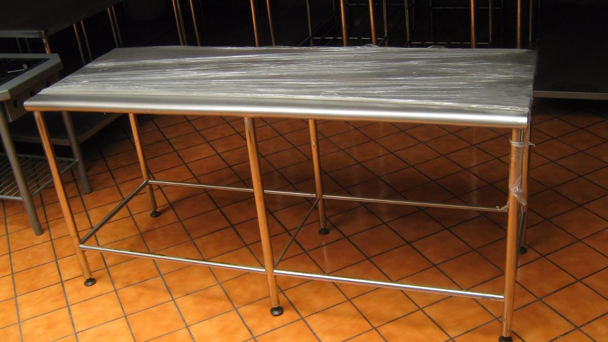 Mesa de acero inoxidable para restaurantes de 2 niveles - U acero inoxidable ...