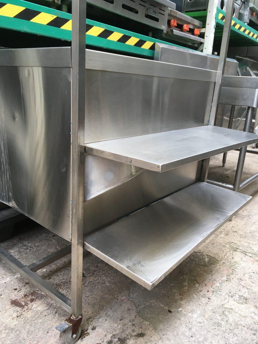 Mesa de acero inoxidable tipo stand 2 en - Mesa acero inoxidable para cocina ...