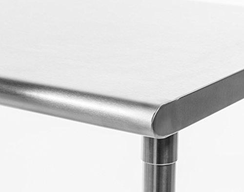 mesa de acero inoxidable trinity 121 x 60cm envío gratis msi