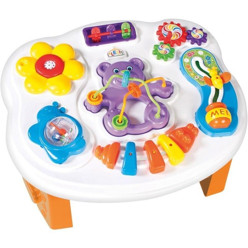 mesa de actividades y sonidos calesita didactico beb