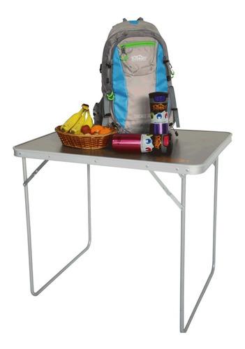 mesa de aluminio camping plegable maletín ecology lite l