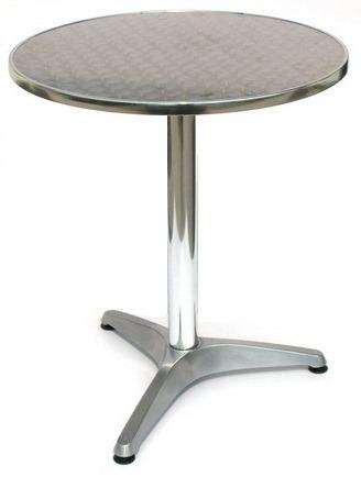 Mesa de aluminio con cubierta de acero inoxidable for Mesa acero inoxidable
