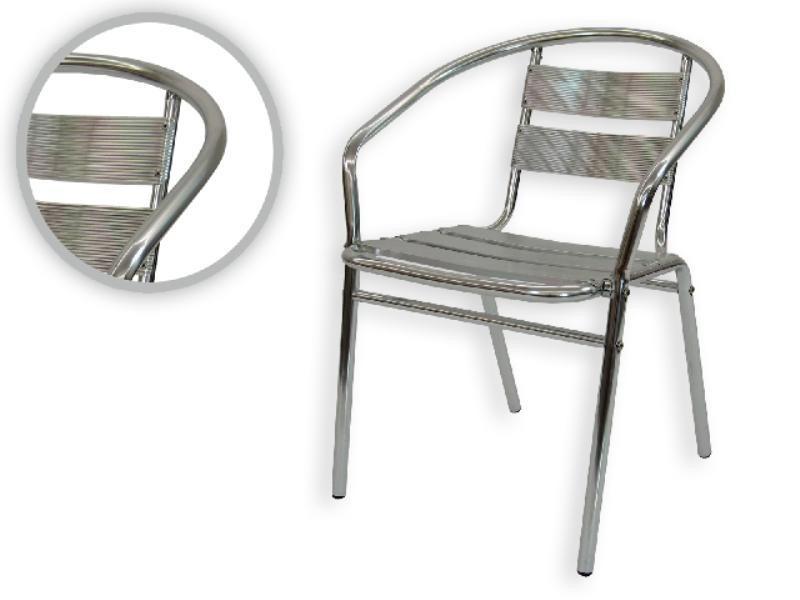 Mesa de aluminio o sillas bar restaurant cafe negocio 1 en mercado libre - Sillas aluminio terraza ...