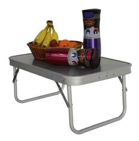 mesa de aluminio plegable auxiliar camping ecology lite s